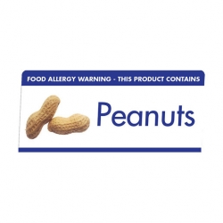 Allergen Buffet Notice Peanuts (Sold Singly)