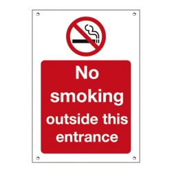Mileta Exterior Sign No Smoking Outside This Entrance
