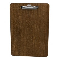 Chalkboards UK A4 Wooden Clipboard 240 x 340 4mm Dark Oak