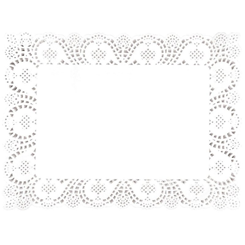 "Fiesta Round Paper Doilies in White 240 mm // 9 1//2/"" Pack Quantity 250 Ø"