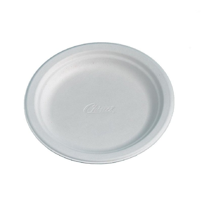 Huhtamaki Compostable Moulded Fibre Plates 170mm (Pack of 175)