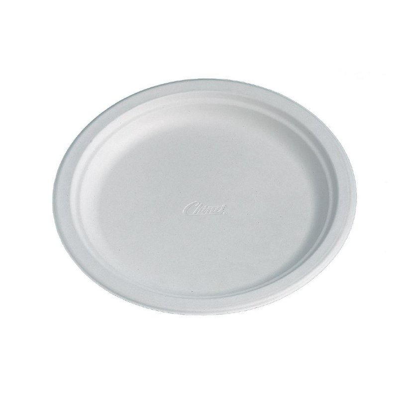 Huhtamaki Compostable Moulded Fibre Plates 220mm (Pack of 125)