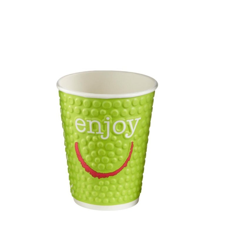 Huhtamaki Enjoy Double Wall Disposable Hot Cups 225ml / 8oz (Pack of 875)