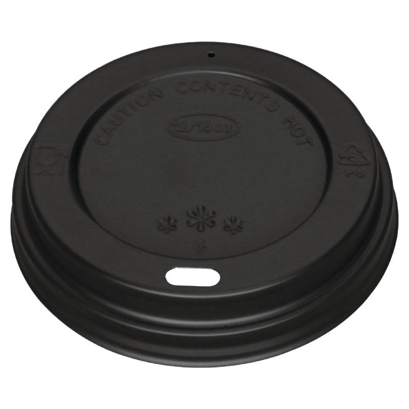 Black Lid for 340ml and 455ml Fiesta Coffee Cups x 50 (Pack of 50)