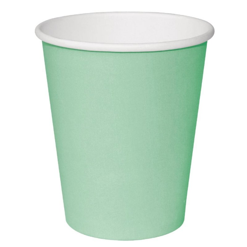 Fiesta Single Wall Takeaway Coffee Cups Turquoise 225ml / 8oz x 50 (Pack of 50)