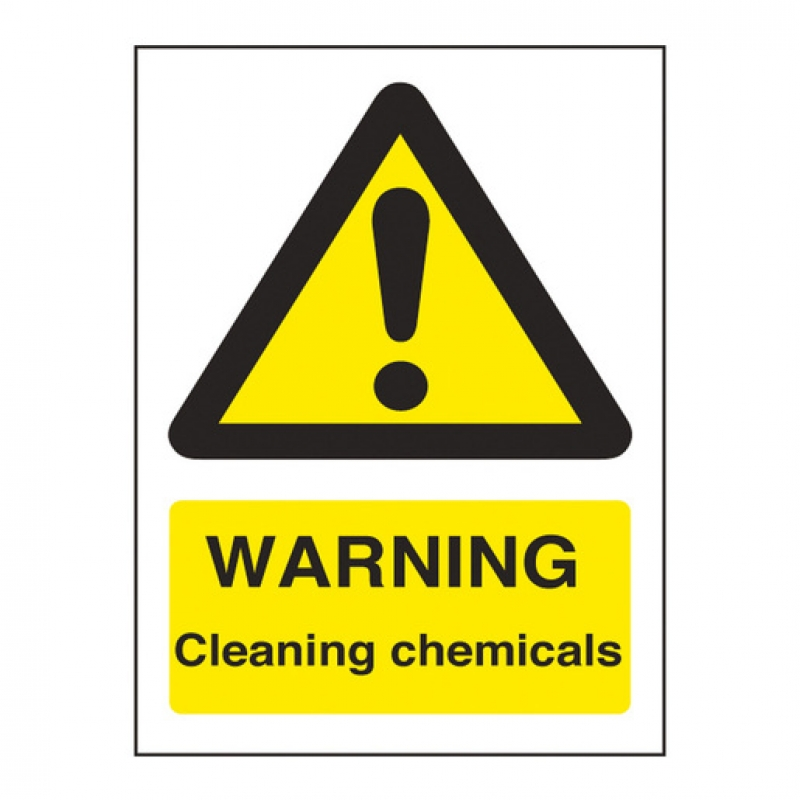 Warning Sign Cleaning Chemicals (Sold Singly)