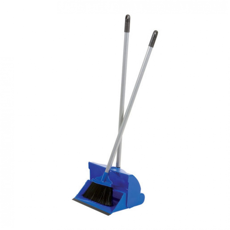 Lobby Dustpan And Brush Plastic Blue (Sold Singly)