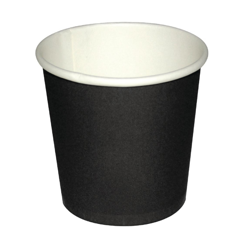Fiesta Disposable Espresso Cups Black 112ml / 4oz x 1000 (Pack of 1000)