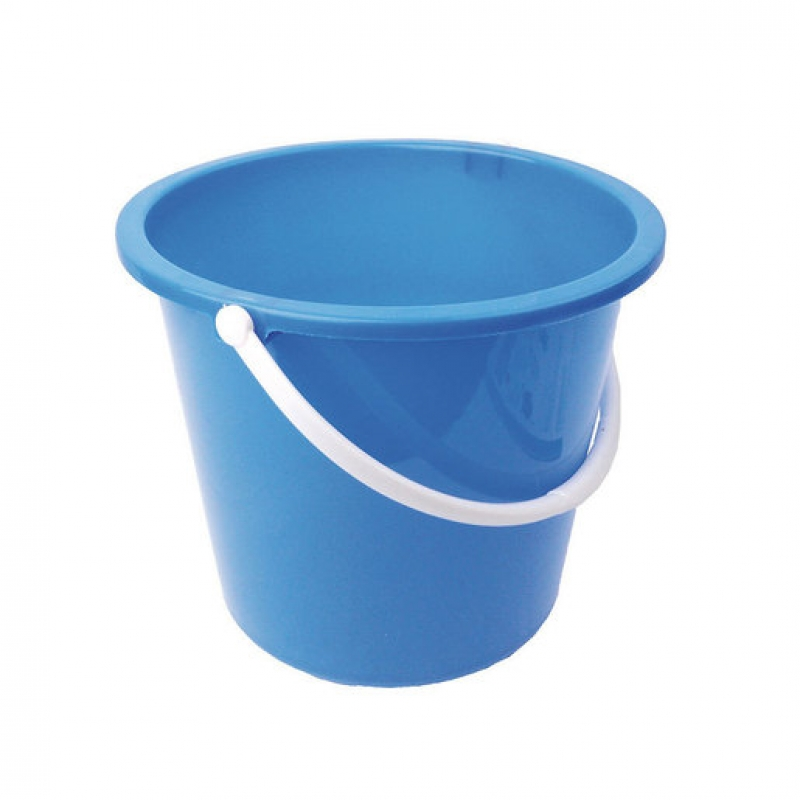 Plastic Bucket 10ltr Blue (Sold Singly)