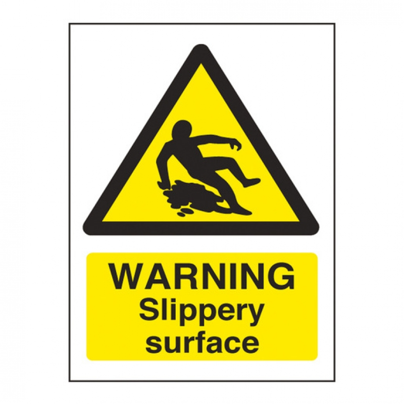 Warning Sign Slippery Surface (Sold Singly)
