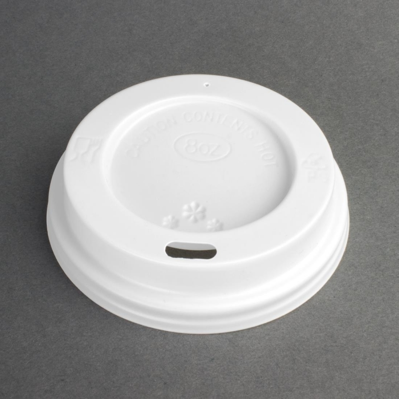 Disposable Lids For 225ml Fiesta Hot Cups x 50 (Pack of 50)