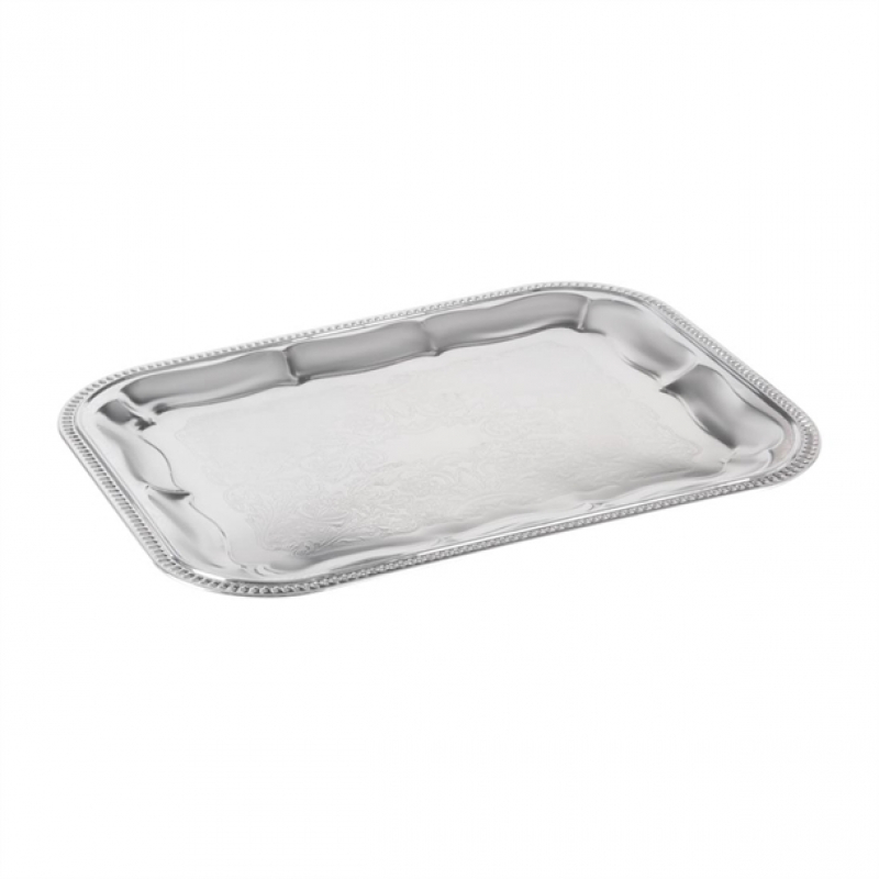 APS Semi-Disposable Party Tray 410 x 310mm Chrome