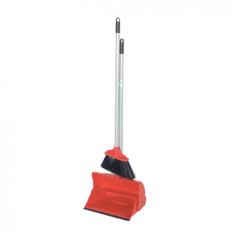 Lobby Dustpan And Soft Brush Set Red (Sold Singly)
