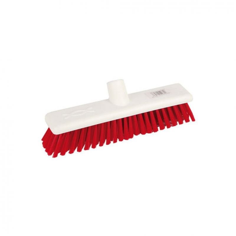 Abbey Hygiene Broom Head Soft 30cm Red (Sold Singly)