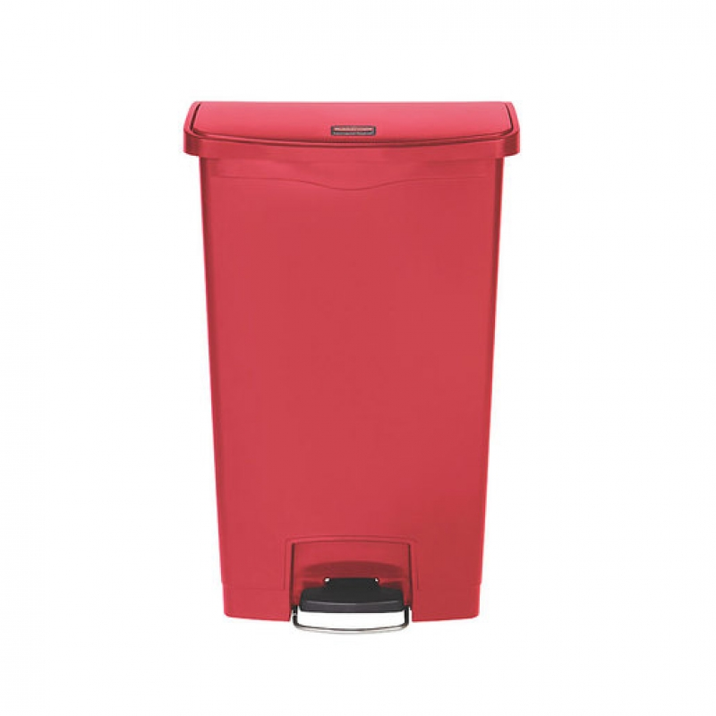 Slim Step-On Bin Front Step 68 ltr Red (Sold Singly)