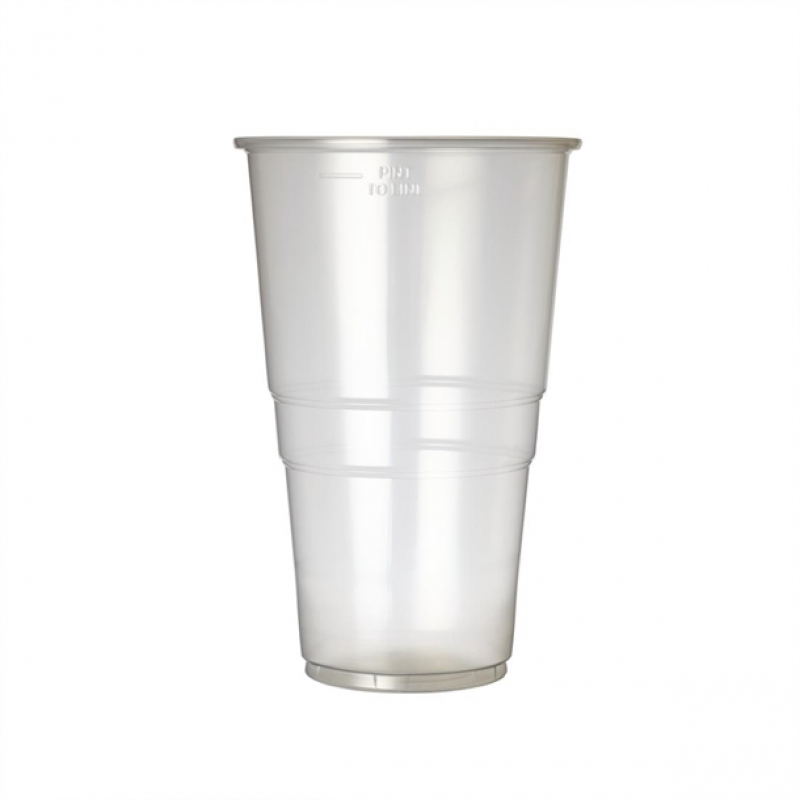 Plastico Disposable Pint Glass 20oz To Line (Pack of 1000)