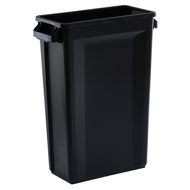 Svelte Bin with Venting Channels 87L, Black (Sold Singly)