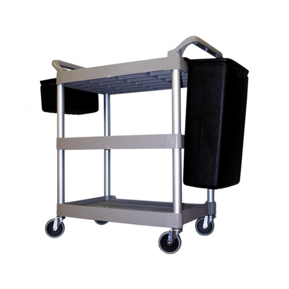 Rubbermaid Trolley 3 Tier Platinum Frame (Sold Singly)
