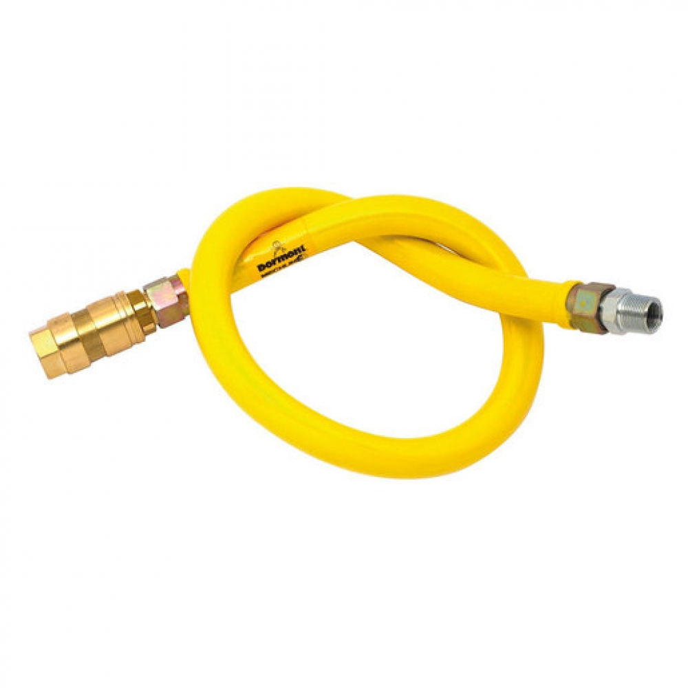 Unbraided Gas Hose 1/2 inch x 1000mm (Sold Singly)