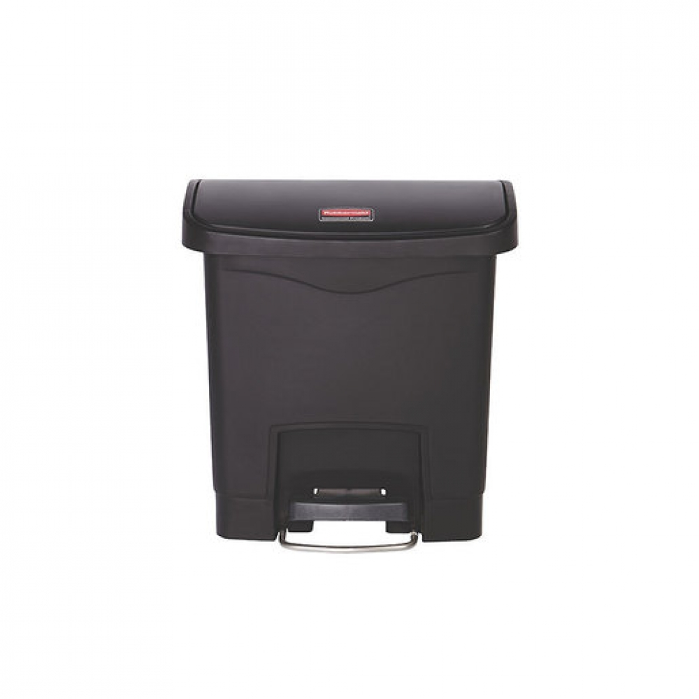 Slim Step-On Bin Front Step 15 ltr Black (Sold Singly)