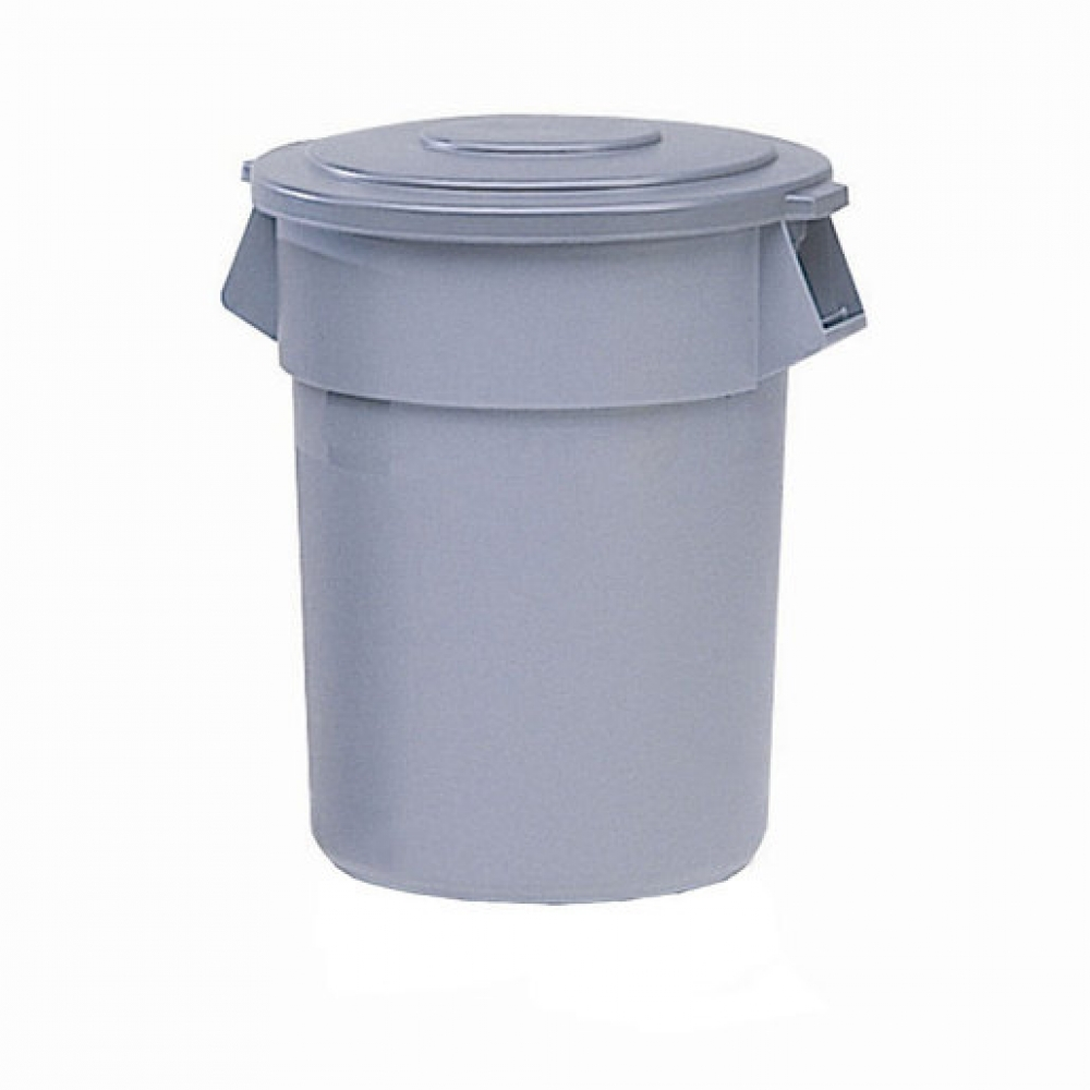 Brute Round Containers Grey 208.2ltr (Sold Singly)