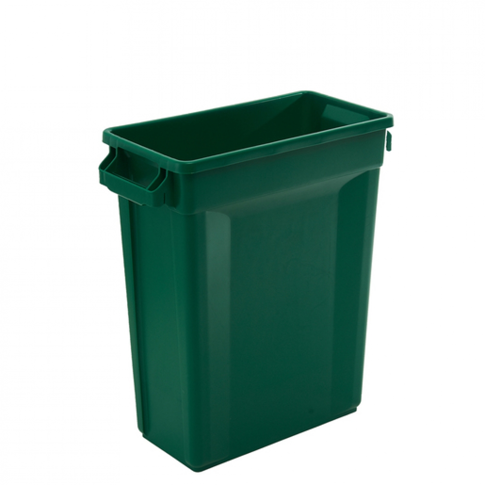 Svelte Bin with Venting Channels 60L, Green (Sold Singly)