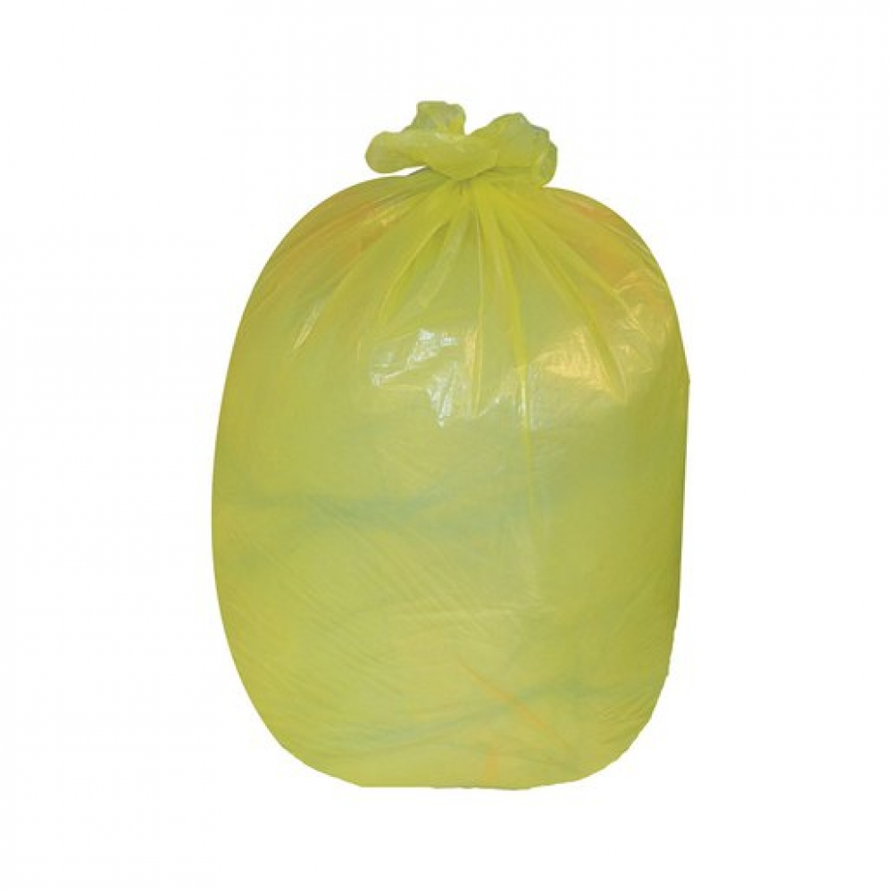 Coloured Refuse Sack 10KG Yellow (200 pcs)