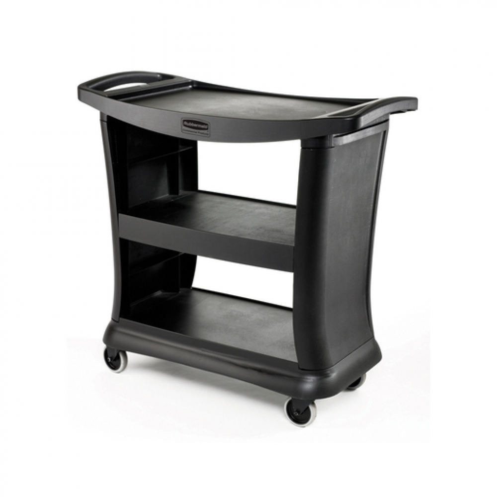 Rubbermaid Executive Trolley 3 Tier Black Frame (Sold Singly)