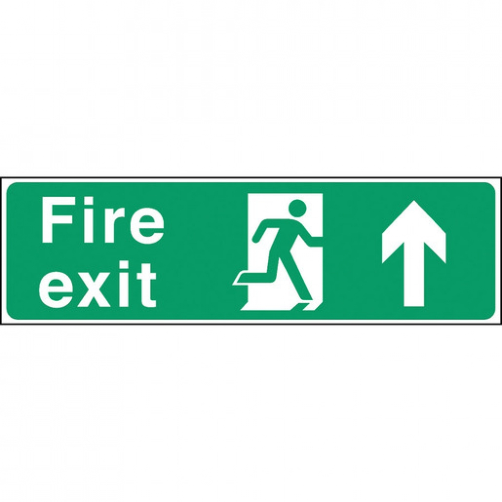 Safety Sign Fire Exit Up Arrow (Sold Singly)