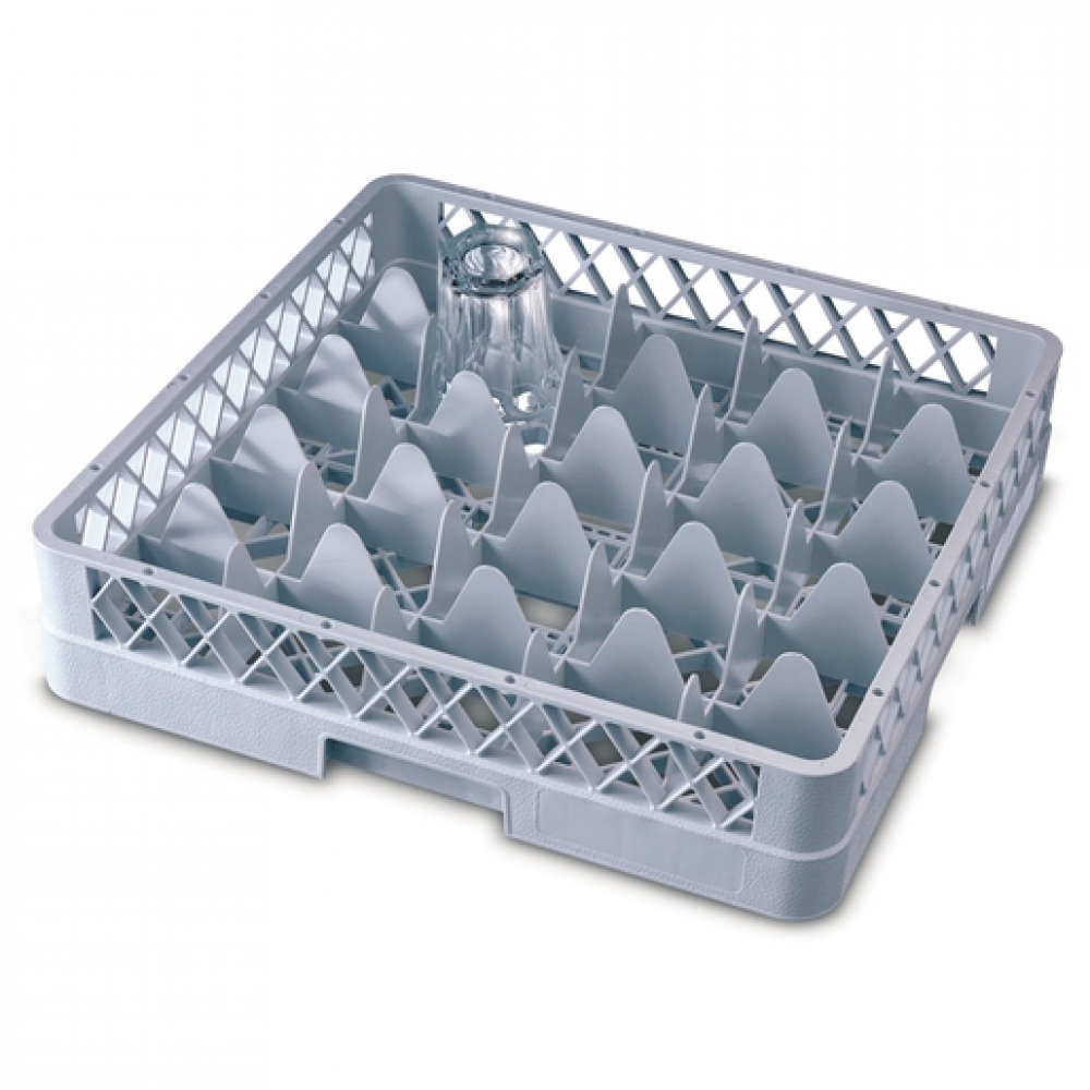 25 Comp Glass Rack 500 x 500 x 202mm Grey (Sold Singly)
